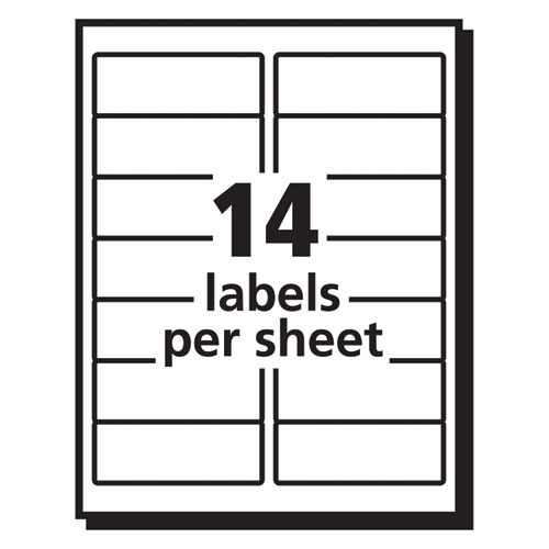 Matte Clear Easy Peel Mailing Labels w/ Sure Feed Technology, Inkjet Printers, 1.33 x 4, Clear, 14/Sheet, 25 Sheets/Pack. Picture 4