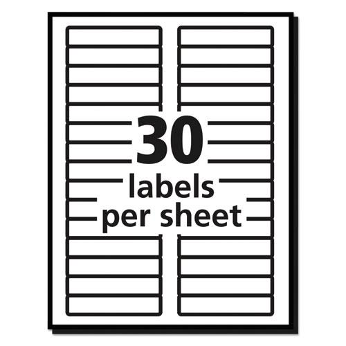 Removable File Folder Labels with Sure Feed Technology, 0.66 x 3.44, White, 30/Sheet, 25 Sheets/Pack. Picture 4
