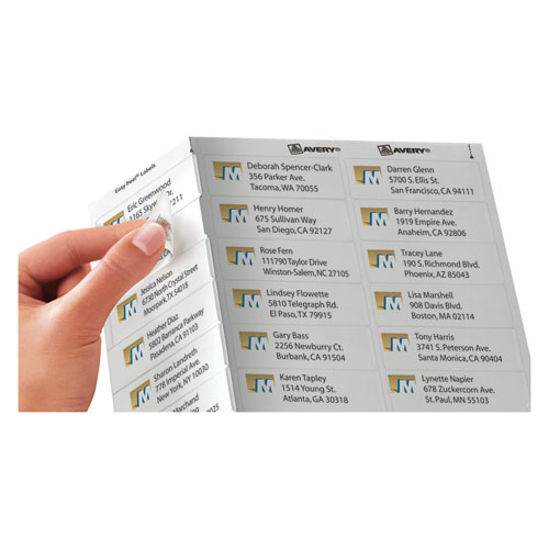 Matte Clear Easy Peel Mailing Labels w/ Sure Feed Technology, Inkjet Printers, 1 x 2.63, Clear, 30/Sheet, 25 Sheets/Pack. Picture 2