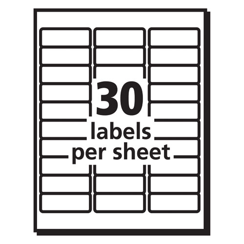 Matte Clear Easy Peel Mailing Labels w/ Sure Feed Technology, Inkjet Printers, 1 x 2.63, Clear, 30/Sheet, 25 Sheets/Pack. Picture 3