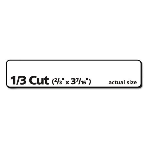 EcoFriendly Permanent File Folder Labels, 0.66 x 3.44, White, 30/Sheet, 25 Sheets/Pack. Picture 3