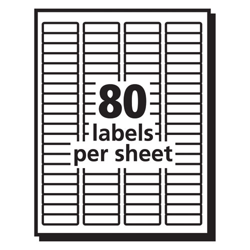 Matte Clear Easy Peel Mailing Labels w/ Sure Feed Technology, Laser Printers, 0.5 x 1.75, Clear, 80/Sheet, 25 Sheets/Box. Picture 5