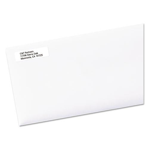White Address Labels w/ Sure Feed Technology for Laser Printers, Laser Printers, 0.5 x 1.75, White, 80/Sheet, 250 Sheets/Box. Picture 5