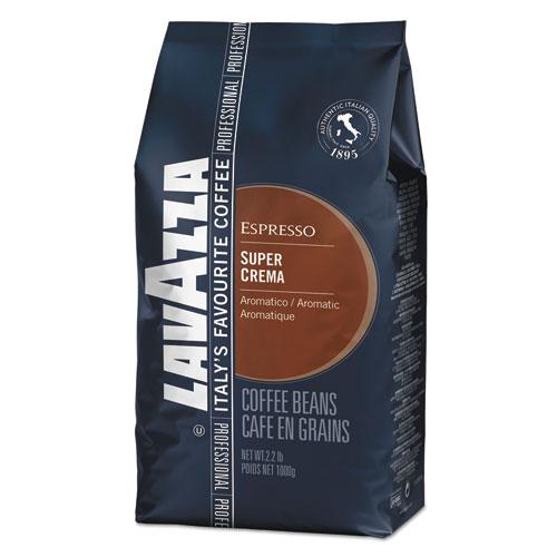Super Crema Whole Bean Espresso Coffee, 2.2lb Bag, Vacuum-Packed. Picture 1