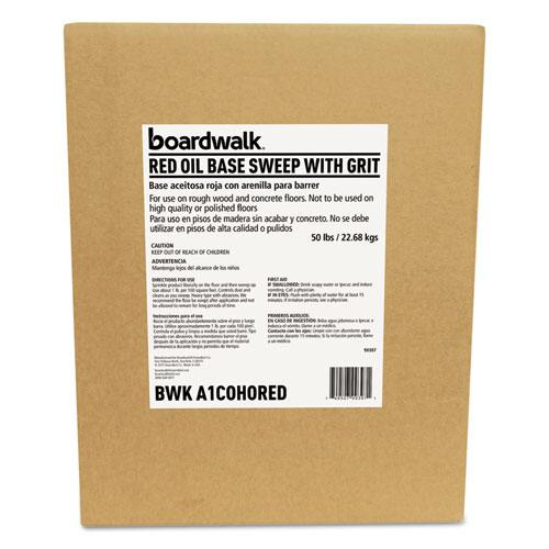 Oil-Based Sweeping Compound, Grit, Red, 50lbs, Box. Picture 1