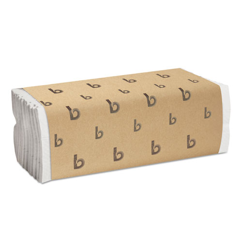 C-Fold Paper Towels, Bleached White, 200 Sheets/Pack, 12 Packs/Carton. Picture 1