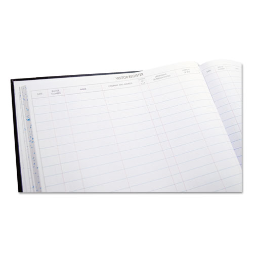 Detailed Visitor Register Book, Black Cover, 208 Ruled Pages, 9.5 x 12.25. Picture 4