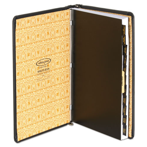Corp Record/Minute Book Complete Outfit, Black, 75 Unruled Pages, 8 1/2 x 11. Picture 2