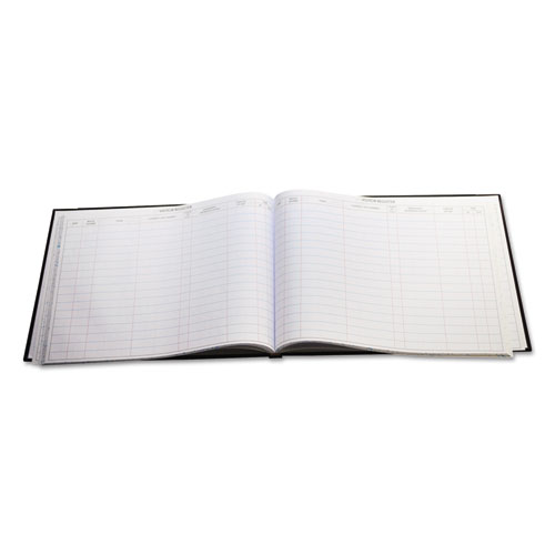 Detailed Visitor Register Book, Black Cover, 208 Ruled Pages, 9.5 x 12.25. Picture 3