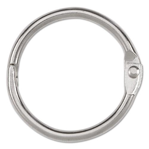 """Metal Book Rings, 1"""" Diameter, 100 Rings/Box. Picture 2"""