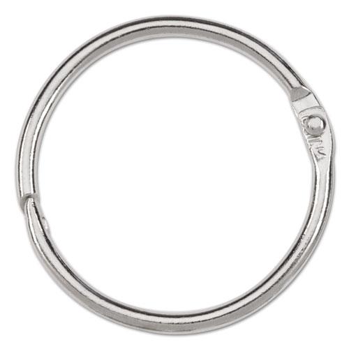 """Metal Book Rings, 1 1/2"""" Diameter, 100 Rings/Box. Picture 2"""