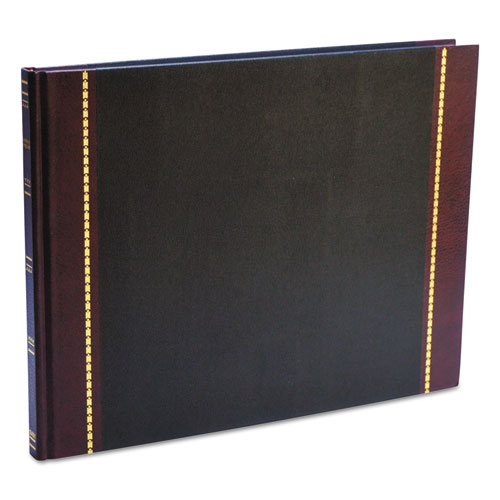 Detailed Visitor Register Book, Black Cover, 208 Ruled Pages, 9.5 x 12.25. Picture 2