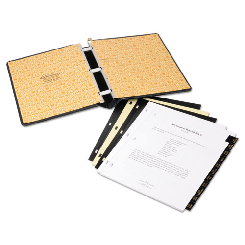 Corp Record/Minute Book Complete Outfit, Black, 75 Unruled Pages, 8 1/2 x 11. Picture 6