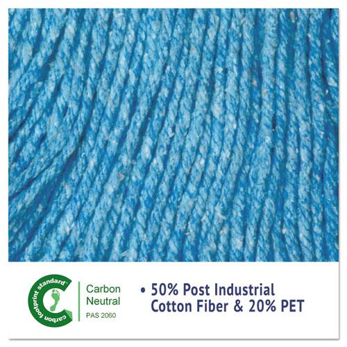 "Super Loop Wet Mop Head, Cotton/Synthetic Fiber, 5"" Headband, Medium Size, Blue, 12/Carton. Picture 6"