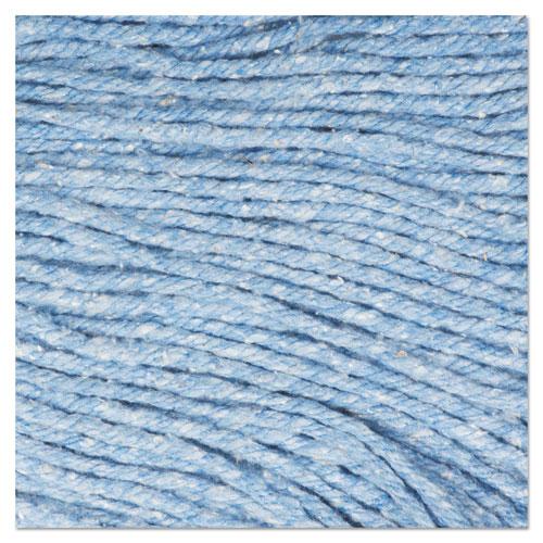 "Super Loop Wet Mop Head, Cotton/Synthetic Fiber, 5"" Headband, Medium Size, Blue, 12/Carton. Picture 10"
