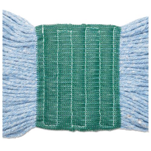 "Super Loop Wet Mop Head, Cotton/Synthetic Fiber, 5"" Headband, Medium Size, Blue, 12/Carton. Picture 9"