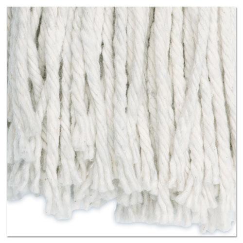 Premium Cut-End Wet Mop Heads, Cotton, 24oz, White, 12/Carton. Picture 9