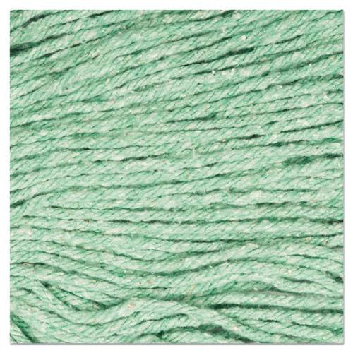 "Super Loop Wet Mop Head, Cotton/Synthetic Fiber, 5"" Headband, Medium Size, Green. Picture 9"