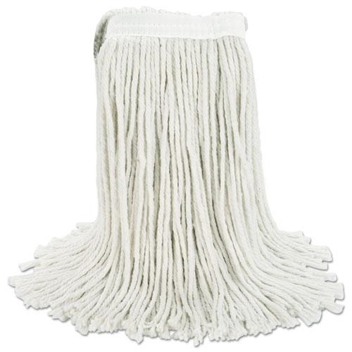 Premium Cut-End Wet Mop Heads, Cotton, 24oz, White, 12/Carton. Picture 8