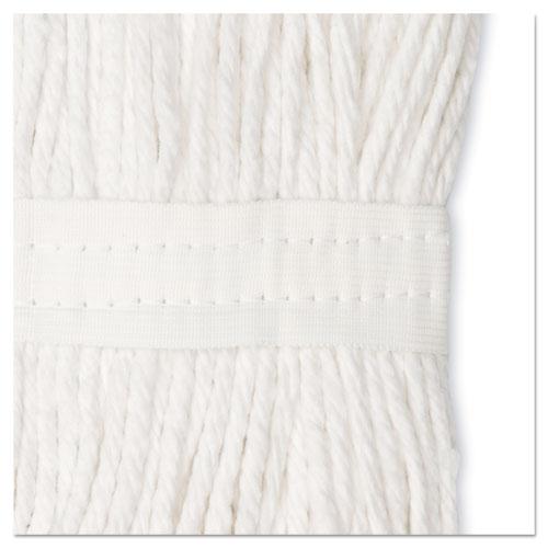 Premium Cut-End Wet Mop Heads, Cotton, 24oz, White, 12/Carton. Picture 10