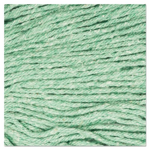 "Super Loop Wet Mop Head, Cotton/Synthetic Fiber, 5"" Headband, Large Size, Green. Picture 2"