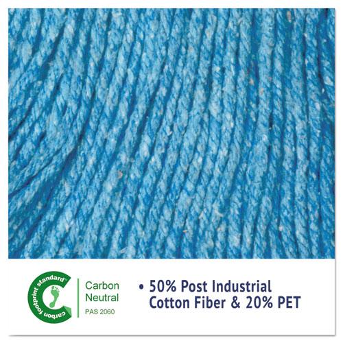 "Super Loop Wet Mop Head, Cotton/Synthetic Fiber, 5"" Headband, Large Size, Blue. Picture 5"