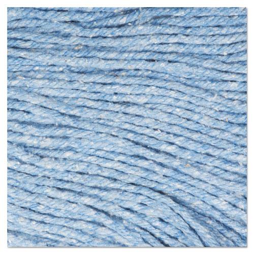 "Super Loop Wet Mop Head, Cotton/Synthetic Fiber, 5"" Headband, Large Size, Blue. Picture 9"