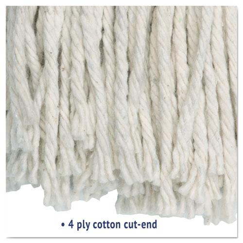 Cut-End Wet Mop Head, Cotton, #16, White, 12/Carton. Picture 4
