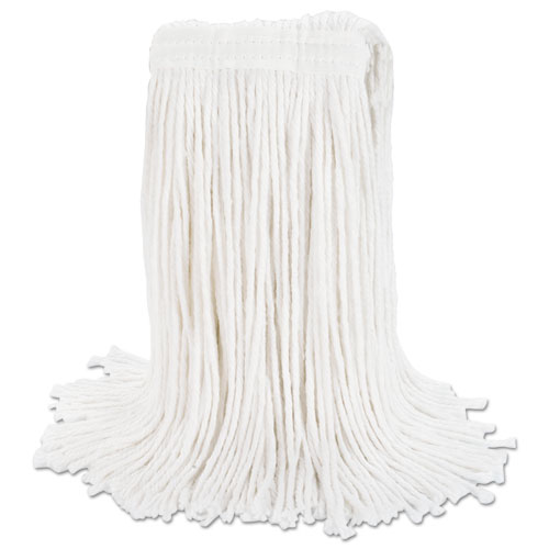 Cut-End Wet Mop Head, Rayon, No. 20, White. Picture 5