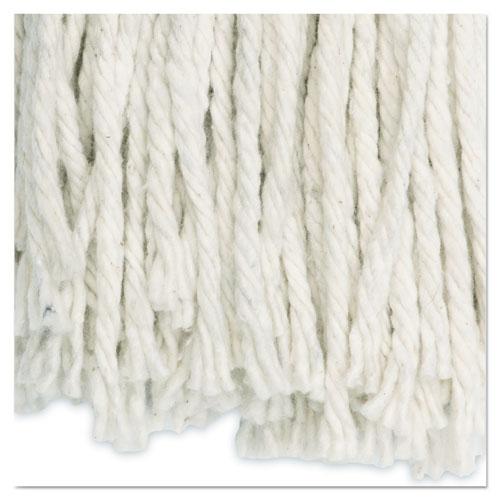 Cut-End Wet Mop Head, Cotton, #16, White, 12/Carton. Picture 9