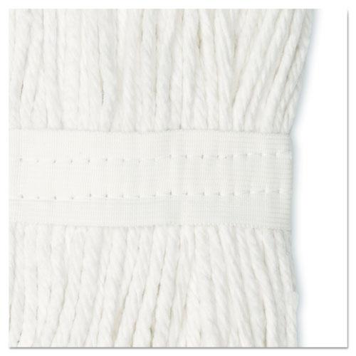Cut-End Wet Mop Head, Cotton, #16, White, 12/Carton. Picture 10