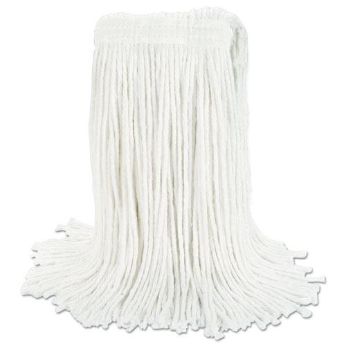 Cut-End Wet Mop Head, Rayon, No. 24, White. Picture 5