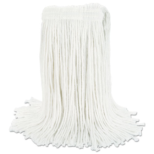 Cut-End Wet Mop Head, Rayon, No. 24, White, 12/Carton. Picture 7