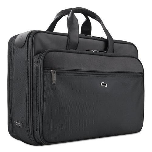 """Classic Smart Strap Briefcase, 16"""", 17 1/2"""" x 5 1/2"""" x 12"""", Black. Picture 2"""