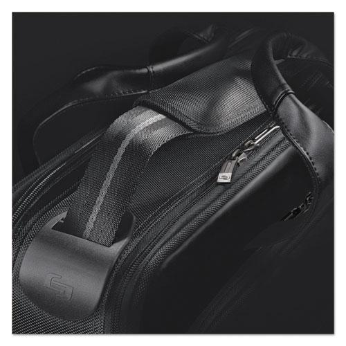 """Classic Smart Strap Briefcase, 16"""", 17 1/2"""" x 5 1/2"""" x 12"""", Black. Picture 3"""