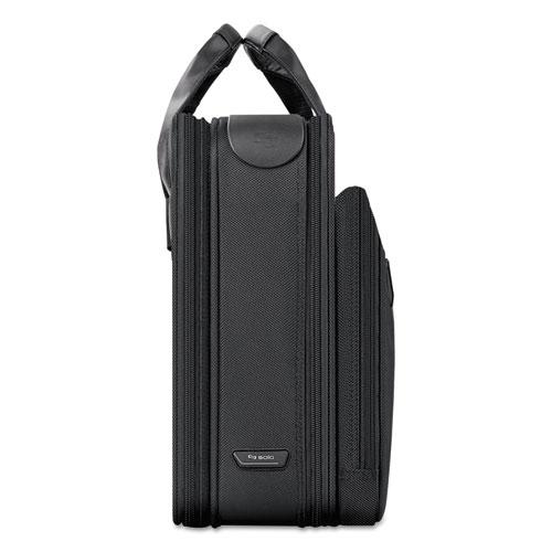 """Classic Smart Strap Briefcase, 16"""", 17 1/2"""" x 5 1/2"""" x 12"""", Black. Picture 5"""