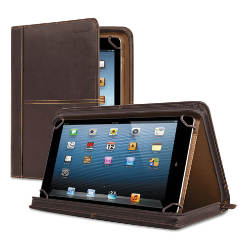 "Premiere Leather Universal Tablet Case, Fits Tablets 8.5"" up to 11"", Espresso. Picture 1"
