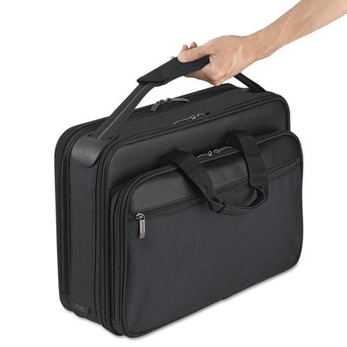 """Classic Smart Strap Briefcase, 16"""", 17 1/2"""" x 5 1/2"""" x 12"""", Black. Picture 7"""