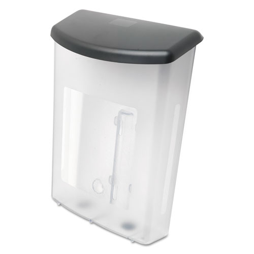 Outdoor Literature Box, 10w x 4.5d x 13.13h, Clear/Black. Picture 3