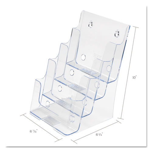 4-Compartment DocuHolder, Booklet Size, 6.88w x 6.25d x 10h, Clear. Picture 3