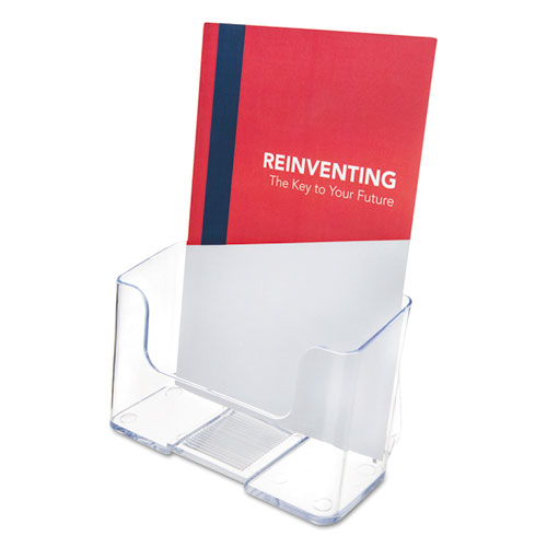 DocuHolder for Countertop/Wall-Mount, Booklet Size, 6.5w x 3.75d x 7.75h, Clear. Picture 1