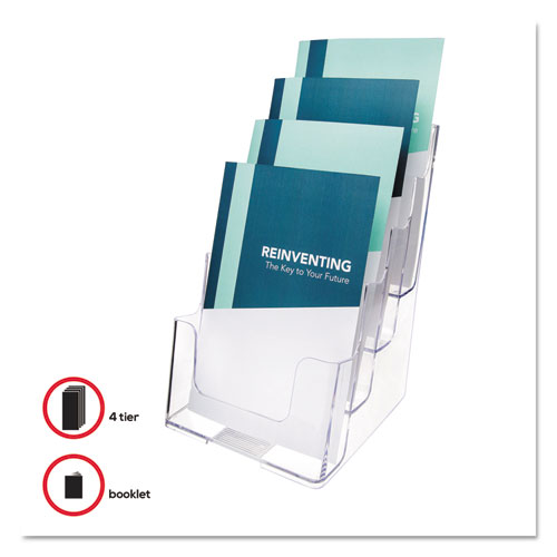 4-Compartment DocuHolder, Booklet Size, 6.88w x 6.25d x 10h, Clear. Picture 6