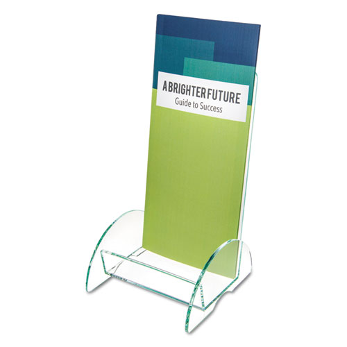 Euro-Style DocuHolder, Leaflet Size, 4.5w x 4.5d x 7.88h, Green Tinted. The main picture.