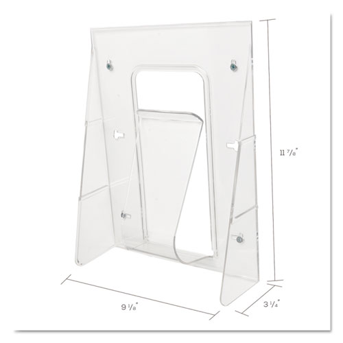 Stand-Tall Wall-Mount Literature Rack, Magazine, 9.13w x 3.25d x 11.88h, Clear. Picture 2
