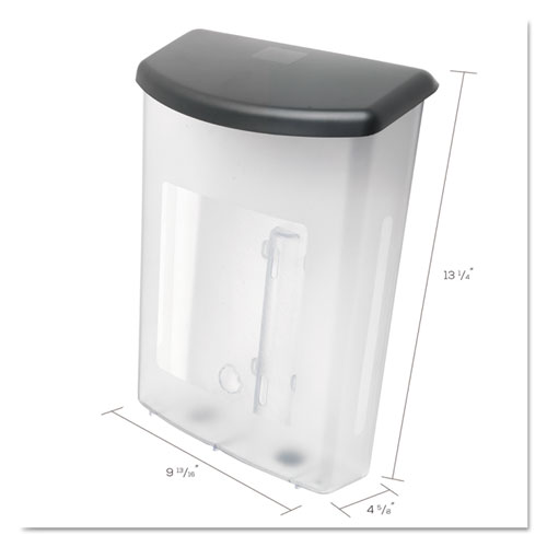 Outdoor Literature Box, 10w x 4.5d x 13.13h, Clear/Black. Picture 6