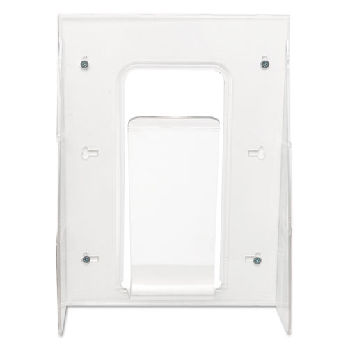 Stand-Tall Wall-Mount Literature Rack, Magazine, 9.13w x 3.25d x 11.88h, Clear. Picture 3
