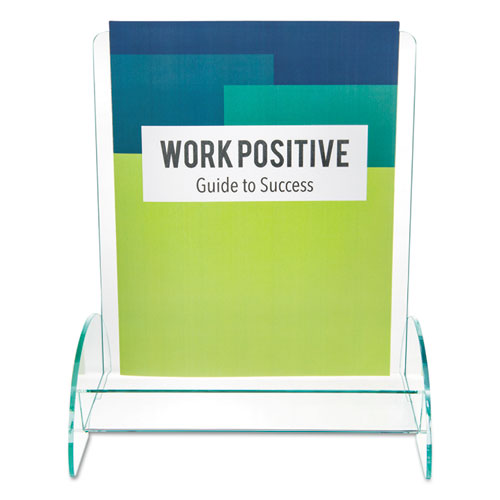 Euro-Style DocuHolder, Magazine Size, 9.81w x 6.31d x11h, Green Tinted. Picture 3