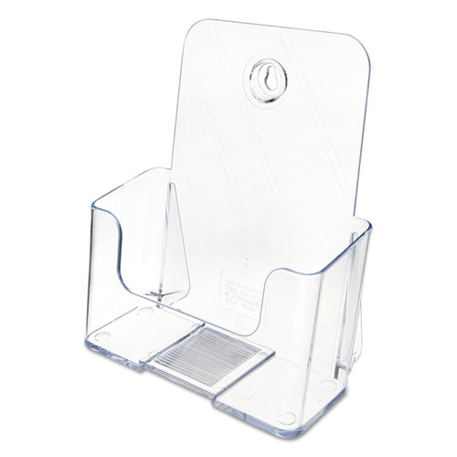DocuHolder for Countertop/Wall-Mount, Booklet Size, 6.5w x 3.75d x 7.75h, Clear. Picture 4