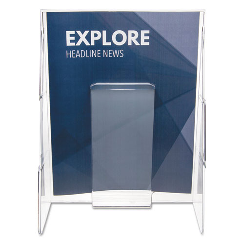 Stand-Tall Wall-Mount Literature Rack, Magazine, 9.13w x 3.25d x 11.88h, Clear. Picture 4