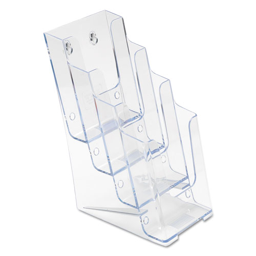 4-Compartment DocuHolder, Leaflet Size, 4.88w x 6.13d x 10h, Clear. Picture 6